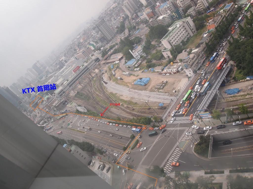 南大門華美達酒店去首爾KTX站