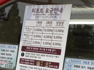 首爾動物園空中纜車費