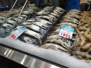 Seafood from Victoria Market