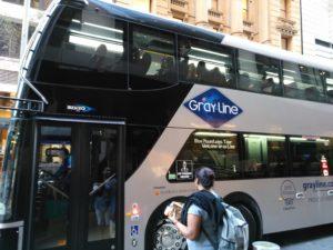 Gray Line Blue Mountain Tour Bus
