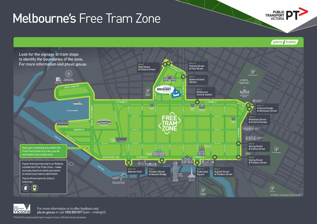 Melbourne 免費電車